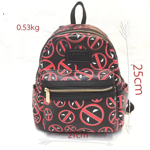 b1bbf16b0aea Anime Backpack School kawaii cute Wonder Woman Super Girl Backpack for  Teenager Star Wars Batman Deadpool Marvel DC Avengers Leather Schoolbag  Kids Mini Bag ...