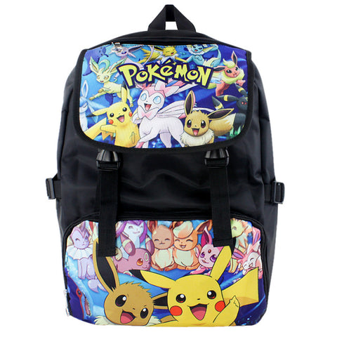 Anime pokemon Womens Mens Backpack School Bags Cartoon Cool Laptop Backpack Black Backpack For Children Boys Girls Shop3126025 Store 1