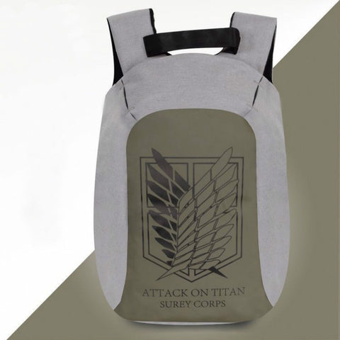Anti Theft Backpack for Men 15 inch Laptop Mens Backpacks Japan Anime Attack on Titan Backpack School Bags for Teenagers mochila 18CIWEI Store 1