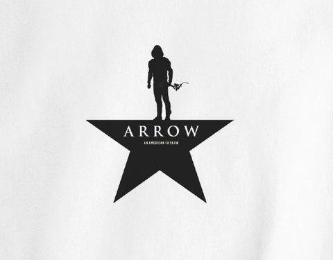 Green Arrow DC Comic Hamilton broadway show parody logo Sihoulette tee t-shirt - Animetee - 1