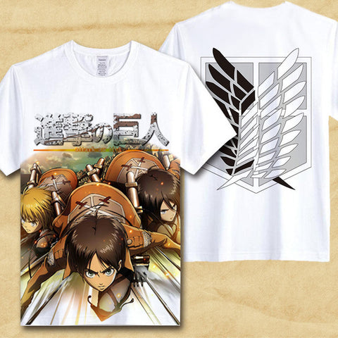 Attack On Titan T Shirt Shingeki No Kyojin Mikasa T-shirt Trendy Japaness Comics Anime cosplay hot sale Tshirt gift clothing Abby Happy Store 1