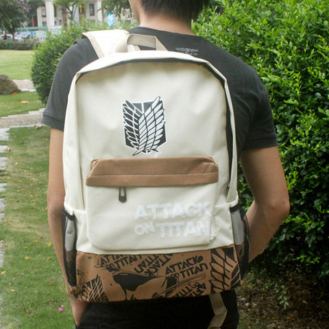 Attack on Titan Backpack Japan Anime Printing School Bag for Teenagers Cartoon Travel Bag Nylon Mochila Galaxia 18CIWEI Store 1