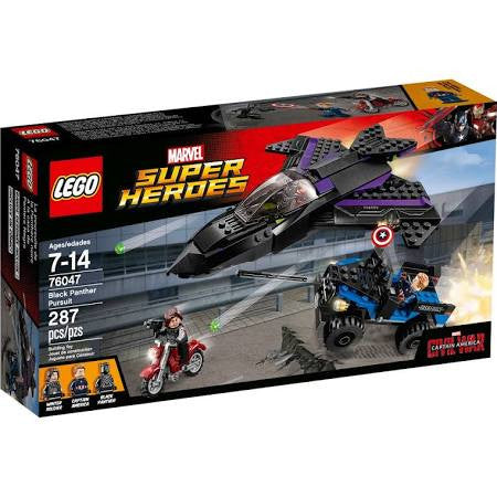 Officially Licensed LEGO 76047 Marvel Super Heroes Black Panther Pursuit - Animetee