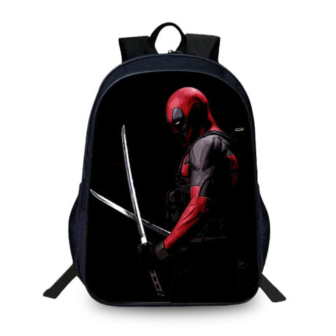 BAOBEIKU 2017New 3D Backpacks Deadpool Characters Printing Cool Children SchoolBags For Girls Boys Men Book Bag Kids Bags Hot YiZu Fashion Store 1