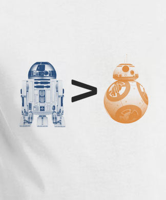 Copy of Star Wars VII Force Awakens R2D2 is Greater then BB8 T-Shirt Tee - Animetee - 1