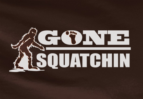 Pop Culture Trendy Bigfoot Gone Squatchin Mountain Tshirt Tee T-Shirt Ladies Youth Adult Unisex - Animetee - 2