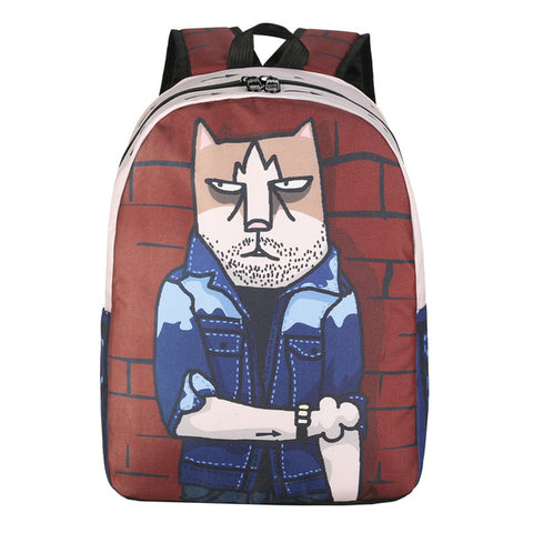 BILLTERA Novelty Graffiti Pattern Backpacks Student Brand Design Mochila Anime Cat Backpack Cool Travel Computer School Bags Shanghai Super Dearie 2