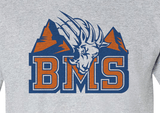 Premium BMS Blue Mountain State College Football Goat Logo Hoodie Hooded Sweatshirt - Animetee - 2