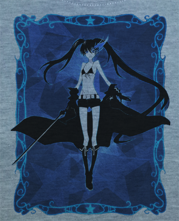 Custom Fanmade Black Rock Hatsune Miku Cosplay Shirt T-Shirt Tee - Animetee - 2