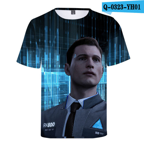 BTS 2018 Hot Detroit Become Human T-Shirt Unisex Summer Short Sleeve 3D Print KARA Connor Tshirt Women Detroit Casual O-Neck Top China-01 Store 1