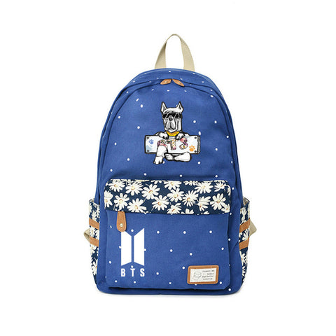 BTS Backpack Bangtan Boys New Style Kindergarten Bags Teenagers Cartoon Funny Backpacks Travel point Kawaii Anime Kpop Bags Global bags Store 1