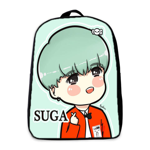 BTS Backpack Jin Teenagers Hip Hop Girls Boys School bag Male mochila Suga Children bookbag EXO/BAP Daily Laptop Backpack Kpop YiZu Fashion Store 1