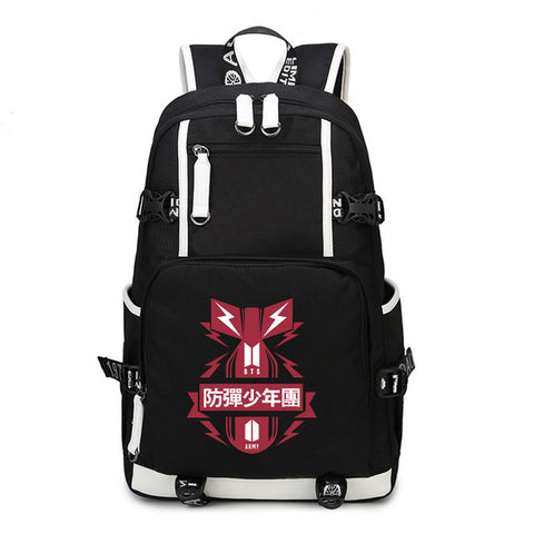 BTS Backpack USB Charging Laptop Bag Shield Army For Teenagers Shoulder Bag Stylish Bangtan Boy Multifunction Cool Backpack Global bags Store 1
