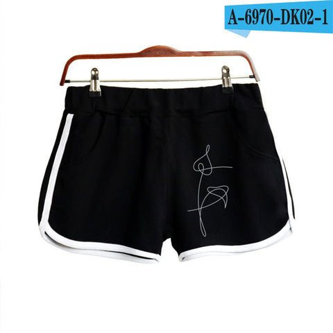BTS LOVE YOURSELF Shorts Women Casual Cotton Short Femme Contrast Elastic Waist Shorts Fast Drying Drawstring Clothing The world's first Store 1