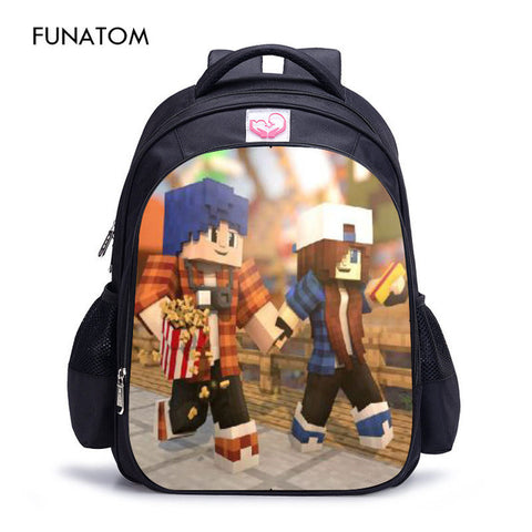 Back To Minecraft Backpack Children All for School Minecraft Lego Backpack Kids Bag High Quality Anime Backpack Bts Bookbag Shop4373097 Store 1