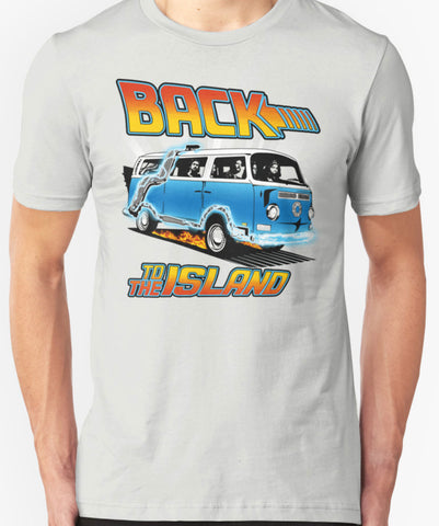 ABC Back to the Island Lost And Back to the Future Spoof Unisex Adult T-Shirt Tee Shirt - Animetee