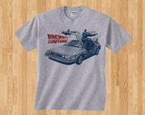 Back to the Future 1 2 3 DeLorean DMC-12 Doc Marty Mcfly shoes Car 88 mph model kit 80s tee tshirt t-shirt - Animetee - 2