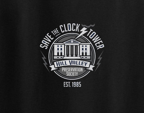 Back to the future save the clock tower 1985 Hill Valley Tee T-Shirt - Animetee - 1