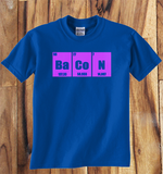 Trendy Pop Culture Periodical Table Elements Bacon Funny t-shirt tshirt Toddler Youth Adult Unisex Ladies Female All Sizes - Animetee - 2