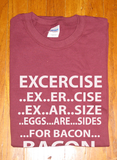 Trendy Pop Culture Funny Excercise Egg are Sides for Bacon t-shirt tshirt Toddler Youth Adult Unisex Ladies All Sizes - Animetee - 1