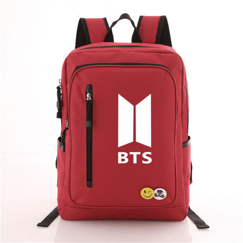 Bangtan Boys A.R.M.Y BTS Printing Backpack Canvas Students School Rucksack Travel Laptop Bag Men Women Met You Store 1