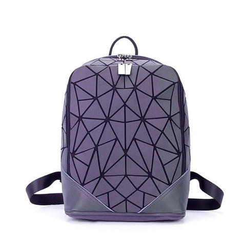 Bao bag Geometric cool backpack chaotic triangular shoulder bag Japanese 2017 winter new Women backpack JIN QIAO ER Backpack&Handbags Store 1