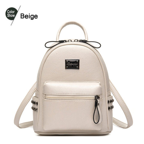 7af5b99834 Beibaobao 2017 PU Leather Backpacks For Teenage Girls Fashion Women  Backpacks High Quality Travel School Students
