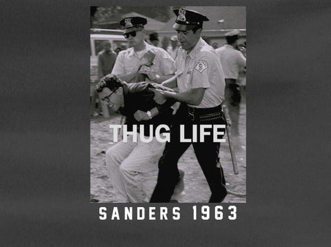 Bernie Sanders 1963 Civil Rights Arrest Thug LIfe President Tee T-Shirt - Animetee - 1