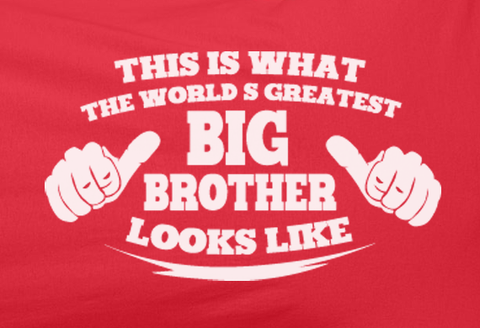 Pop Culture Trendy Worlds Greatest big brother looks like Tshirt Tee T-Shirt Ladies Youth Adult Unisex - Animetee - 2