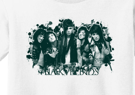 Premium Black Veil Brides Group Tee T-Shirt - Animetee - 1