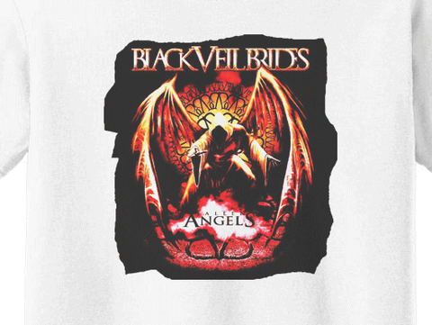 Premium Black Veil Brides Andy Angel Girls T-Shirt - Animetee - 1