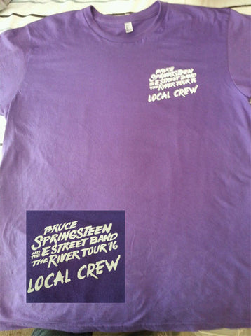 Bruce Springsteen The River Tour 2016 Local Crew Tee T-Shirt 80's - Animetee
