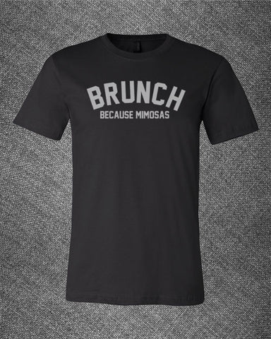 Pop Culture Trendy Brunch because Mimosas Tshirt Tee T-Shirt Ladies Youth Adult Unisex - Animetee - 1