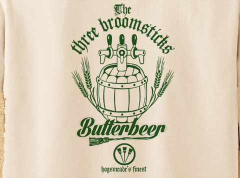 Trendy Pop Culture Harry Potter Three 3 Broomsticks Butterbeer hogwarts finest tee t-shirt tshirt Toddler Youth Adult Unisex Ladies - Animetee - 2