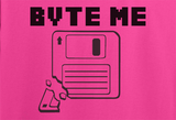 Pop Culture Trendy Funny Byte Bite Me old school PC floppy disk copy hardrive Tshirt Tee T-Shirt Ladies Youth Adult Unisex - Animetee - 2