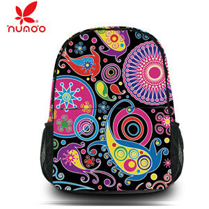 f3f2758579cb Canvas Printing Backpack Women School Bags for Teenage Girls Cute Bookbags  Vintage Laptop Backpacks Female HUADO