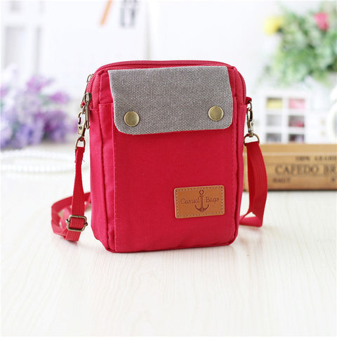 4ab9771a1967 Canvas plaid children school bags kids travel messenger crossbody money  pouches phone bags for kindergaten baby