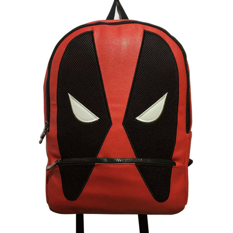 Cartoon Anime Captain America Backpack PU Leather Students School Bag Gift Teenager Boy Girl Deadpool Super Hero Backpacks Happy Goods Store 1
