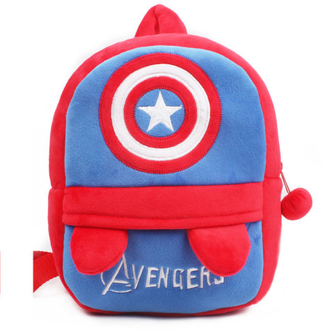 Toddler Backpack class Cartoon Captain America Baby Backpack Plush Toy  Kindergarten Toddler Schoolbag Gift Kids Students 1-3 years old School  Satchel