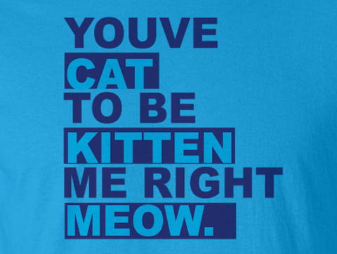 You've Got to be Kitten Me Right Meow Now Tee T-Shirt Tshirt - Animetee - 2