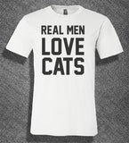 Pop Culture Trendy Real Men Love Cats Kittens Check Meowt cat Tee T-Shirt Ladies Youth Adult Unisex - Animetee - 1