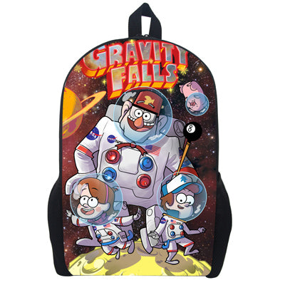 53015f47dfaa Girls bookbag Children Anime Gravity Falls Backpack Boys Girls Cartoon  Adventure Time Backpacks Kids School Bags Bookbag Daily Backpack AT_52_3