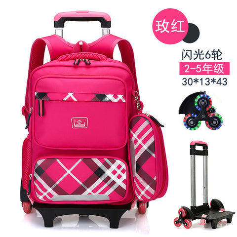 ... Children Trolley Backpack School Bags For Grils Wheeled Bag Student  Detachable Rolling Backpacks kids Women travel ... cff9cb59bc782