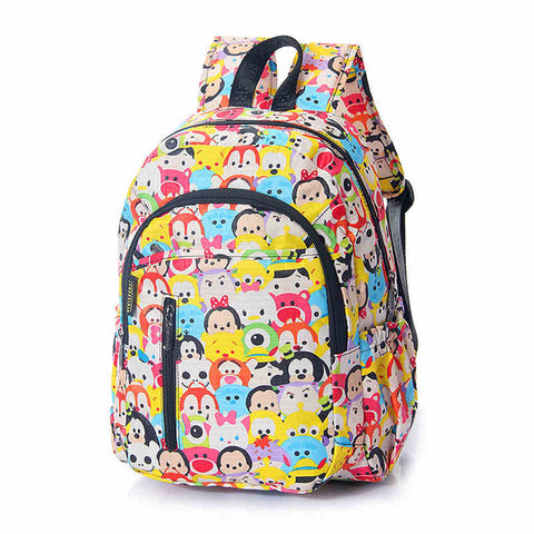 9d3c92da4f6 Children  s Tsum Waterproof Nylon Kindergarten School Bags Backpacks For Girls  Boys Kids Kawaii Cartoon