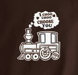 Trendy Pop Culture I Choo choo choose you train love funny marriage i'm with stupid Tee T-Shirt Ladies Youth Unisex - Animetee - 1