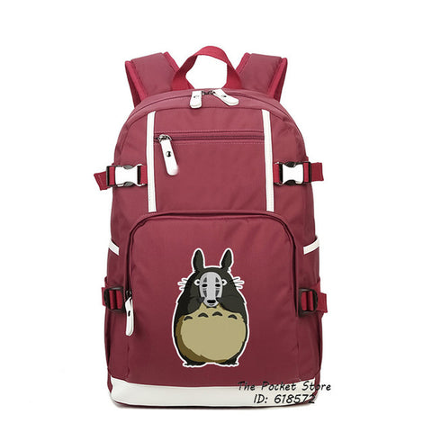 Classical Japanese Anime Spirited Away School Bags for Girls No Face Mask Printing Backpack Mochila Feminina Canvas Women Bags The Pocket Store 1