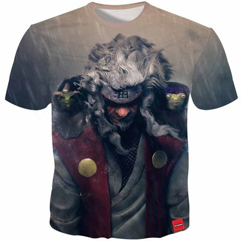 Cloudstyle Anime 3D Tshirts Men Naruto Jiraiya 3D Print Harajuku Cartoon Tee Shirt Fashion Summer Top Streetwear Plus Size 5XL Cloudstyle 3D FS Store 1