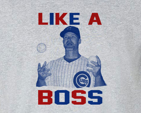 Chicago Cubs Like a Boss Ross David Ross Catcher Tee T-Shirt - Animetee - 1