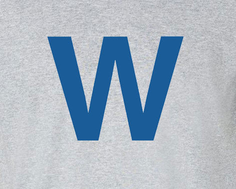 Chicago Cubs W is for Win logo Tee T-Shirt - Animetee - 1