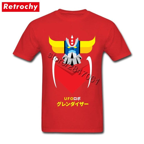 Custom Printed Anime mazinger z t shirt Guys Short Sleeves O Neck Cotton Japanese manga Tees Shirt for Men Great Fashion Trends Retrochy Store 1